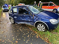 Schwerer Verkehrsunfall auf der L 123 im Bereich Rosdorf