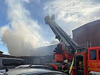 Gebäudebrand in Krempe
