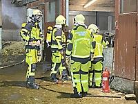 Brennt Stallgebäude in Horst