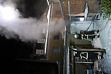Zwei Wehren löschen Feuer im Malerbetrieb