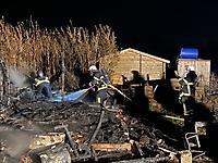 Gartenlaubenbrand im Kleingartenverein